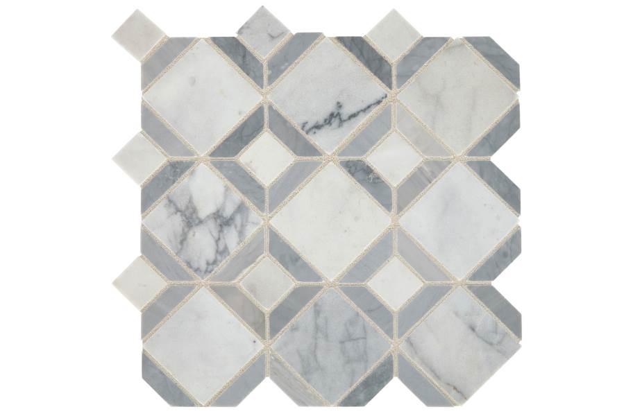 Daltile Sublimity Mosaic - Cirrus Storm Parquet
