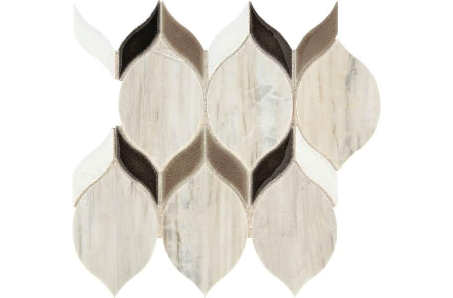 Daltile Fonte Mosaic - Pier White Double Leaf