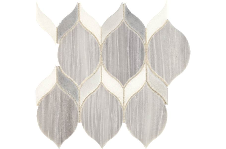 Daltile Fonte Mosaic - Nautical Grey Double Leaf