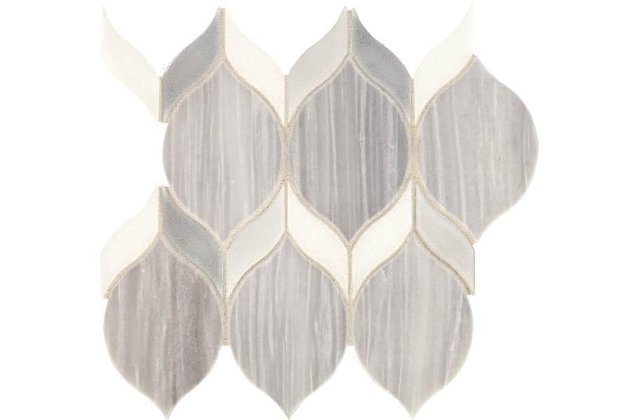 Daltile Fonte Mosaic - Nautical Grey Double Leaf