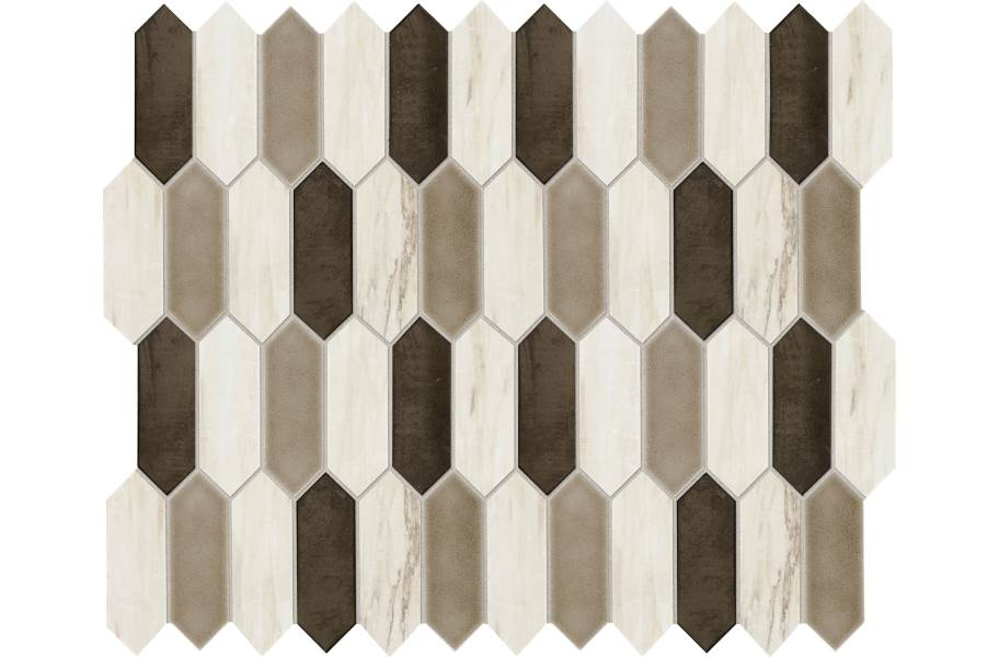 Daltile Fonte Mosaic - Pier White Blend Picket