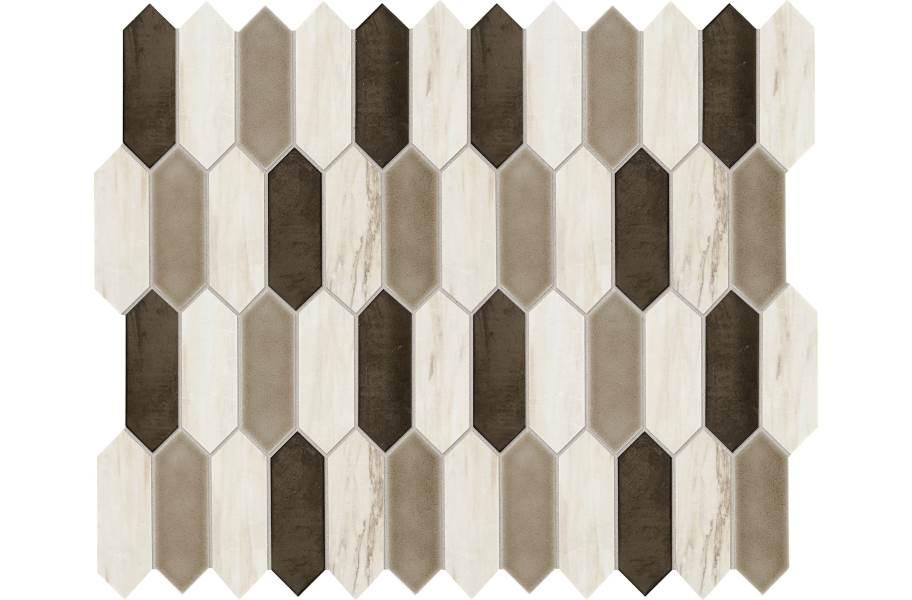 Daltile Fonte Mosaic - Pier White Blend Picket