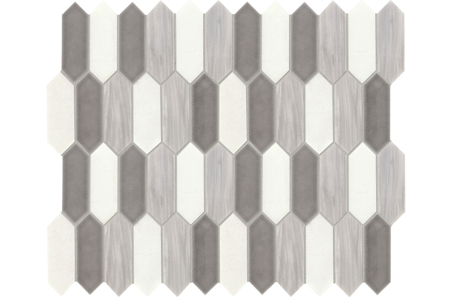 Daltile Fonte Mosaic - Nautical Grey Blend Picket