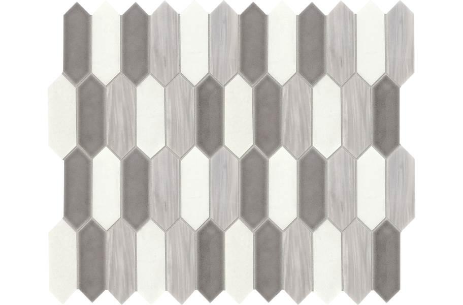 Daltile Fonte Mosaic - Nautical Grey Blend Picket