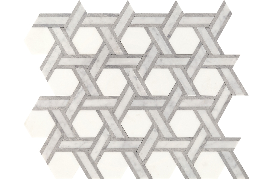 Daltile Fonte Mosaic - Heather Harbor Blend Rotating Hex