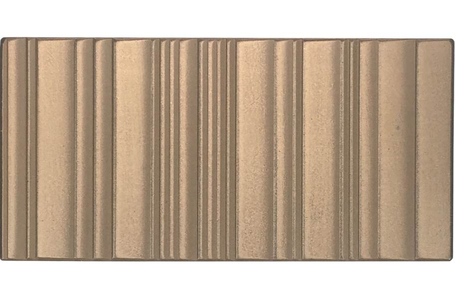 Daltile Industrial Metals - Gold Grooved