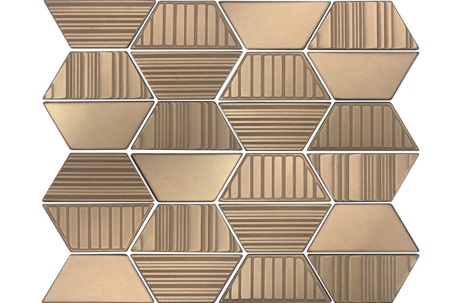 Daltile Industrial Metals - Gold Trapezoid