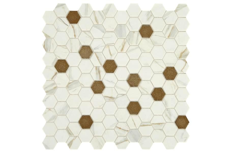 Daltile Uptown Glass Mosaic - Hex Posh Chiffon