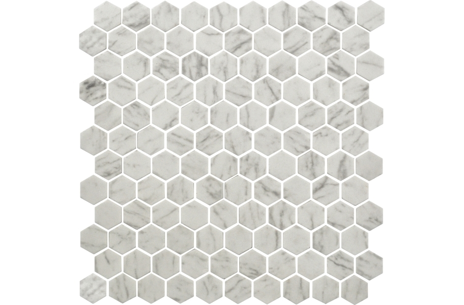 Daltile Uptown Glass Mosaic - Hex Carrara