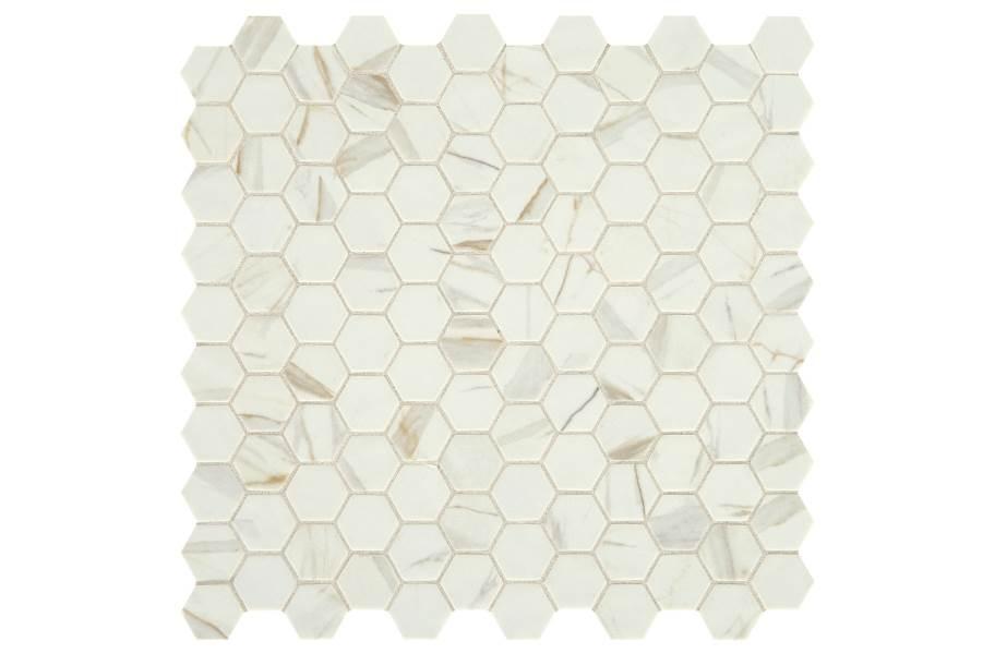 Daltile Uptown Glass Mosaic - Hex Posh Spritzer