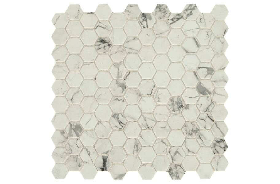 Daltile Uptown Glass Mosaic - Hex Posh Resort
