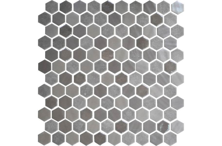 Daltile Uptown Glass Mosaic - Hex Frost Moka