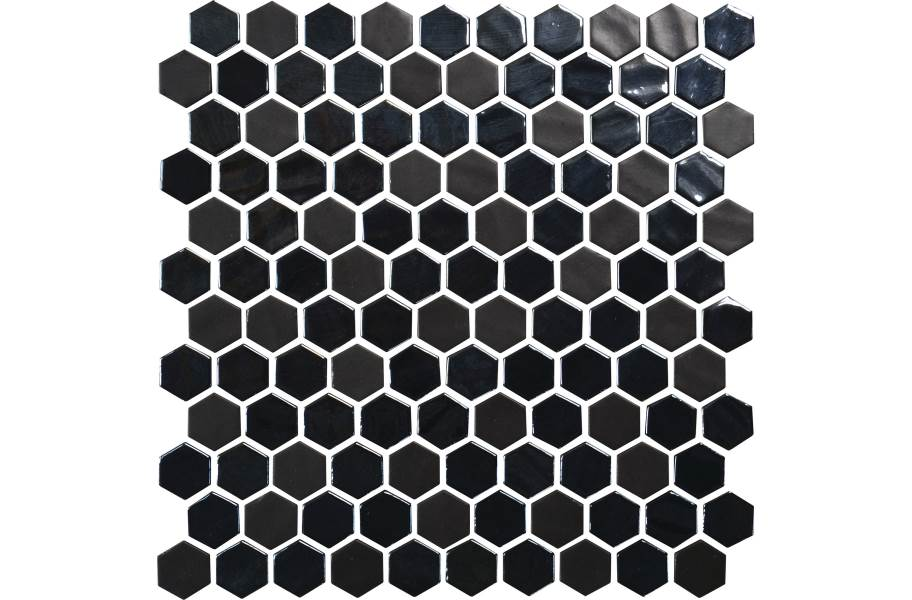 Daltile Uptown Glass Mosaic - Hex Ebony