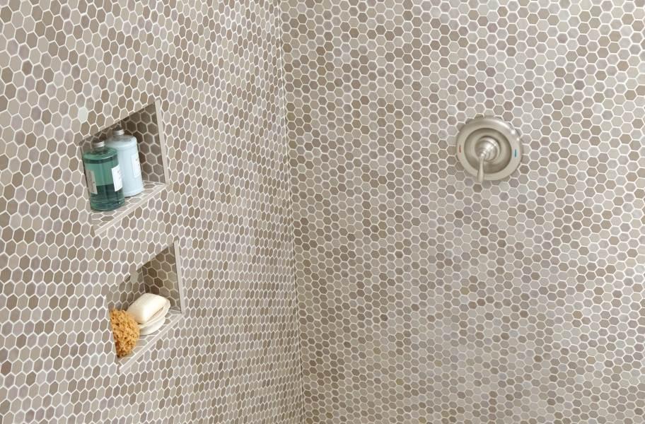 Daltile Uptown Glass Mosaic - Frost Moka