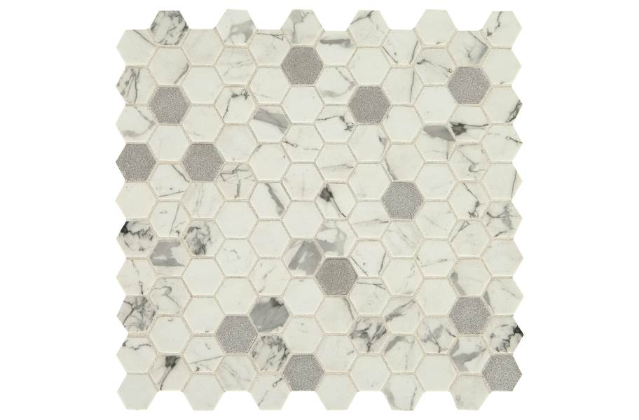 Daltile Uptown Glass Mosaic - Hex Posh Bubbly