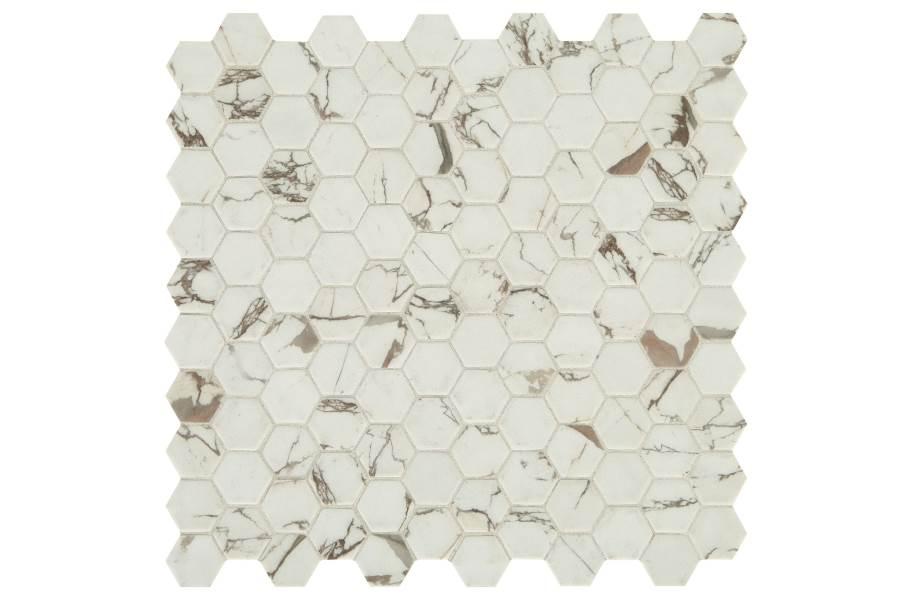 Daltile Uptown Glass Mosaic - Hex Posh Sparkler