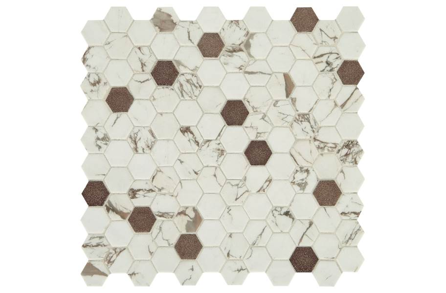 Daltile Uptown Glass Mosaic - Hex Posh Bronze