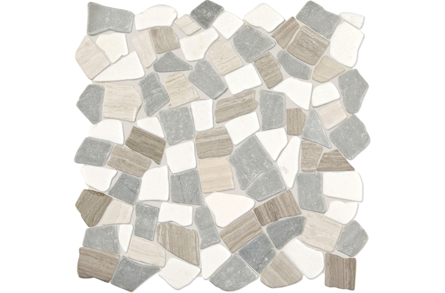 Daltile Raine Mosaic - Pebble Cumulus Grey Blend