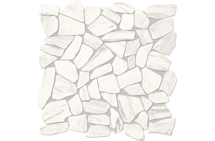 Daltile Raine Mosaic - Pebble Stratus White