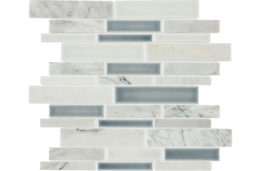 Daltile Raine Mosaic - Random Linear Cirrus Storm Blend