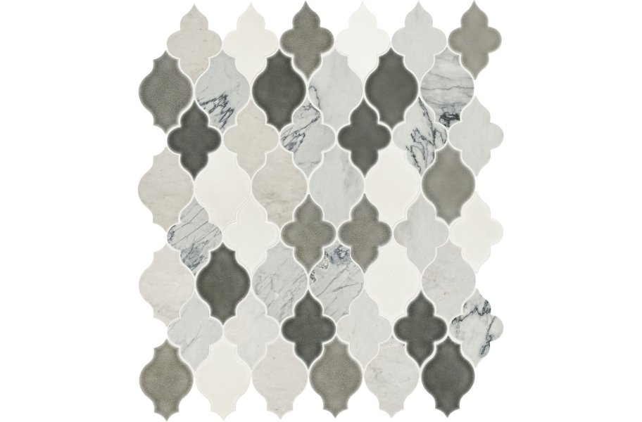 Daltile Raine Mosaic - Arabesque Cirrus Storm Blend