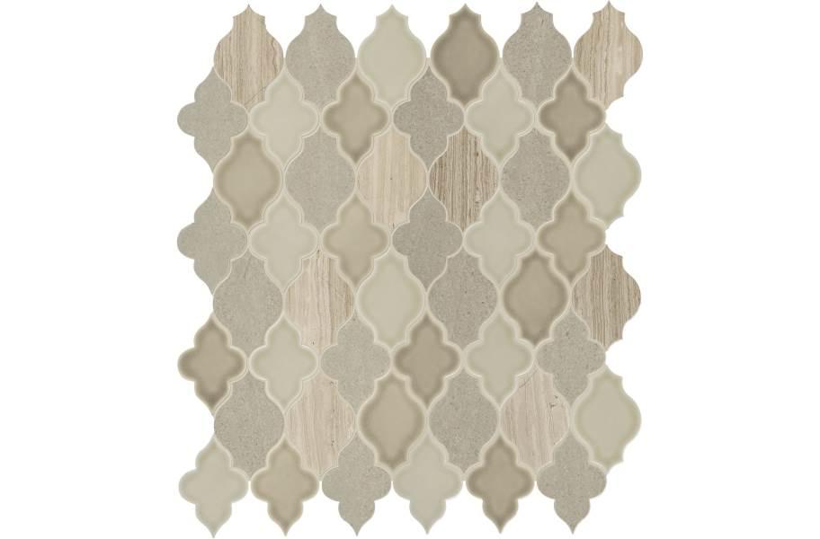 Daltile Raine Mosaic - Arabesque Cumulus Grey Blend
