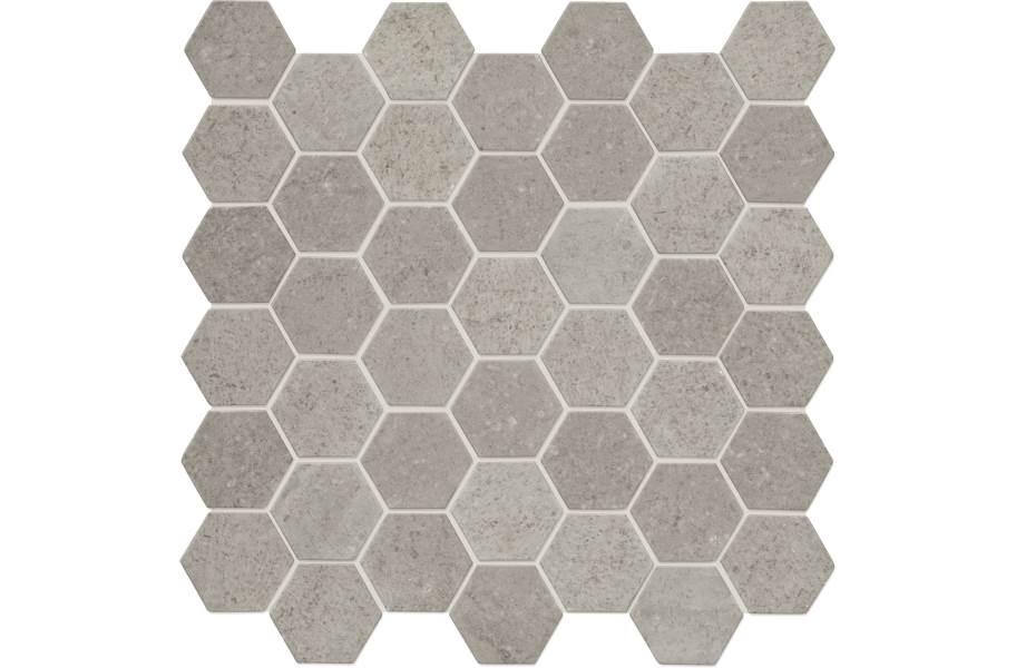 Daltile Raine Mosaic - Hex Cumulus Grey