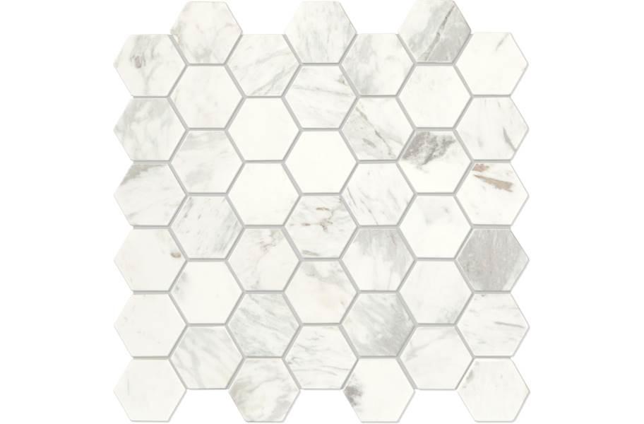 Daltile Raine Mosaic - Hex Stratus White