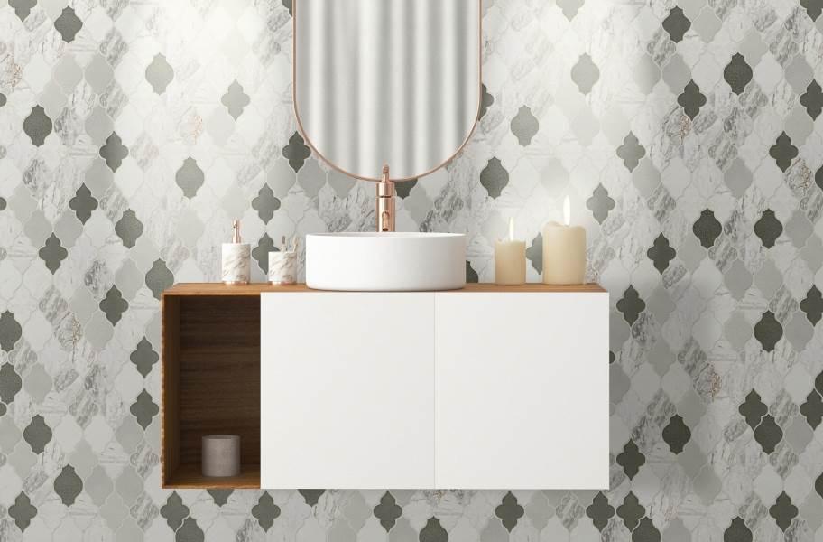 Daltile Raine Mosaic - Stratus White Blend