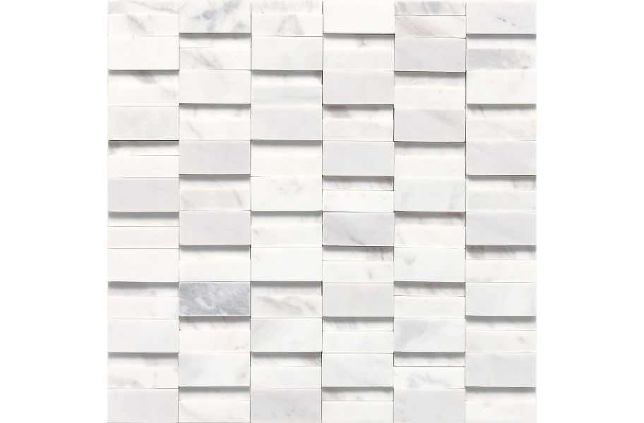 Daltile Stone A' La Mod Mosaic - Contempo White High-Low Random