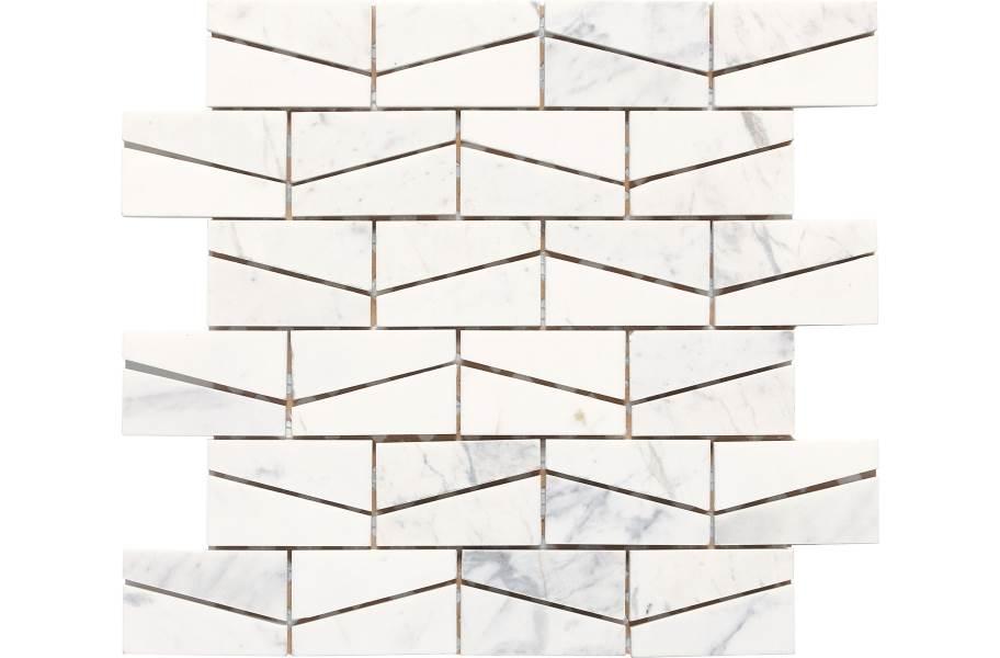 Daltile Stone A' La Mod Mosaic - Contempo White Wedge