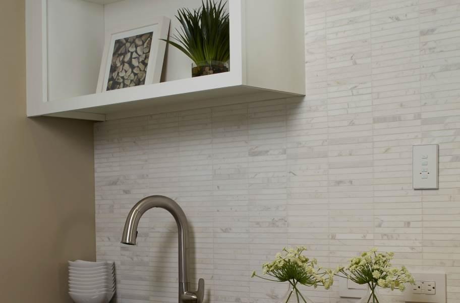 Daltile Stone A' La Mod Mosaic - Contempo White Linear