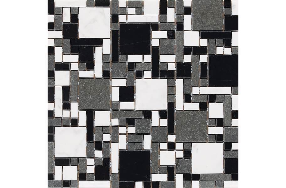 Daltile Stone A' La Mod Mosaic - Uptown Blend Block Random