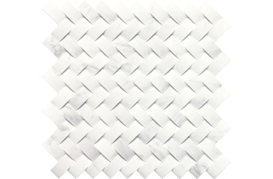 Daltile Stone A' La Mod Mosaic - Contempo White Basketweave