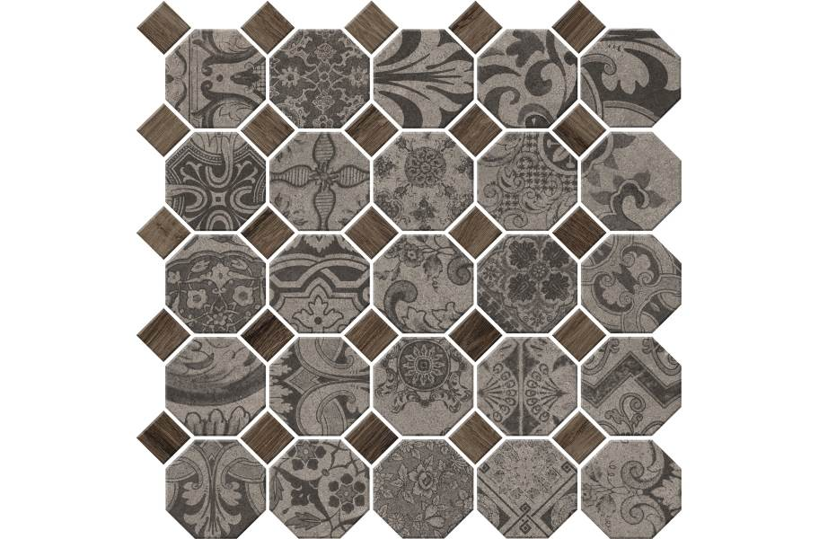 Daltile Rhetoric Mosaic - Composition Grey Mosaic
