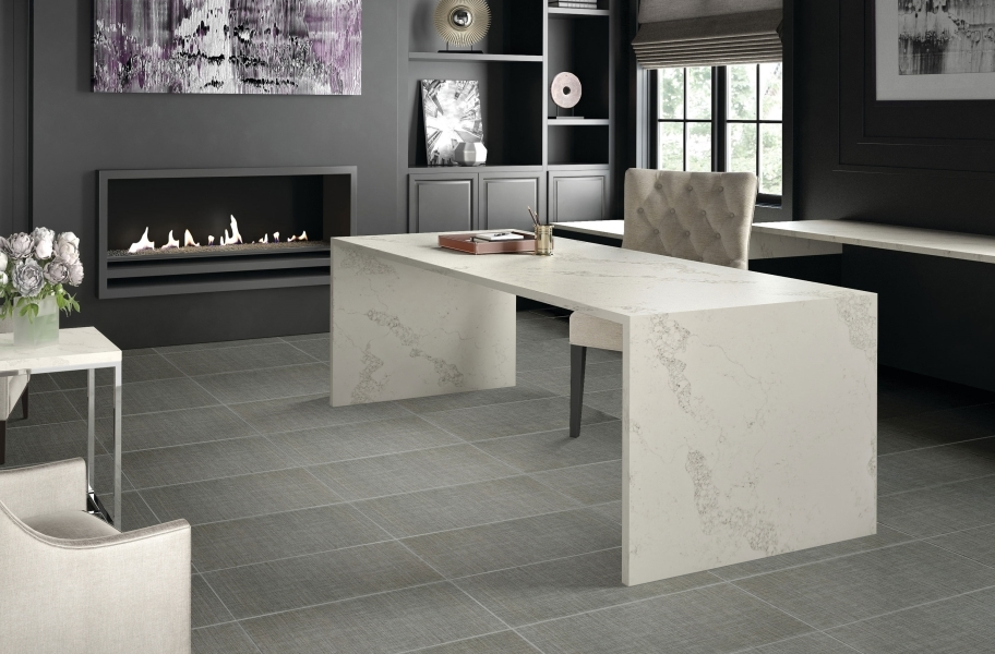 Daltile Fabric Art - Modern Textile Dark Gray