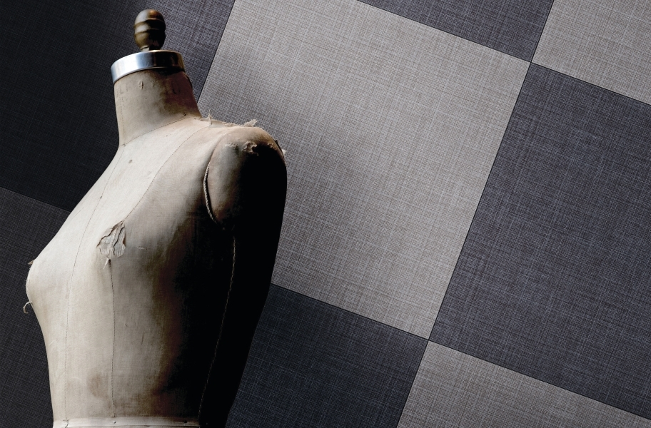 Daltile Fabric Art - Textile Medium Gray, Textile Midnight Blue