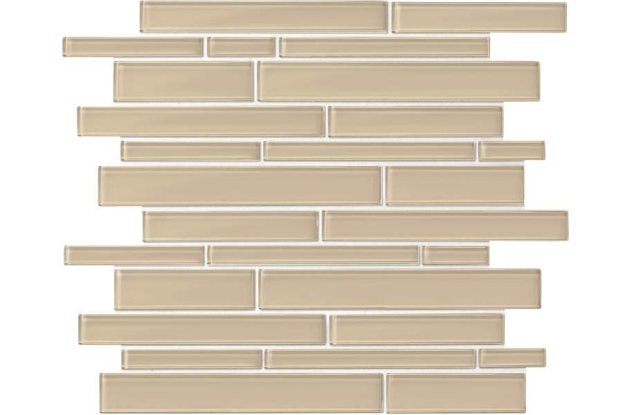 Daltile Amity Glass Mosaic - Beige Random Linear