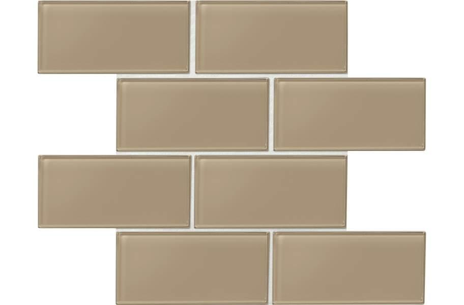 Daltile Amity Glass Mosaic - Brown 3x6