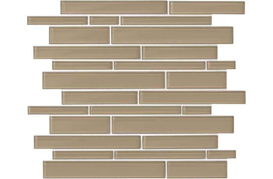 Daltile Amity Glass Mosaic - Brown Random Linear