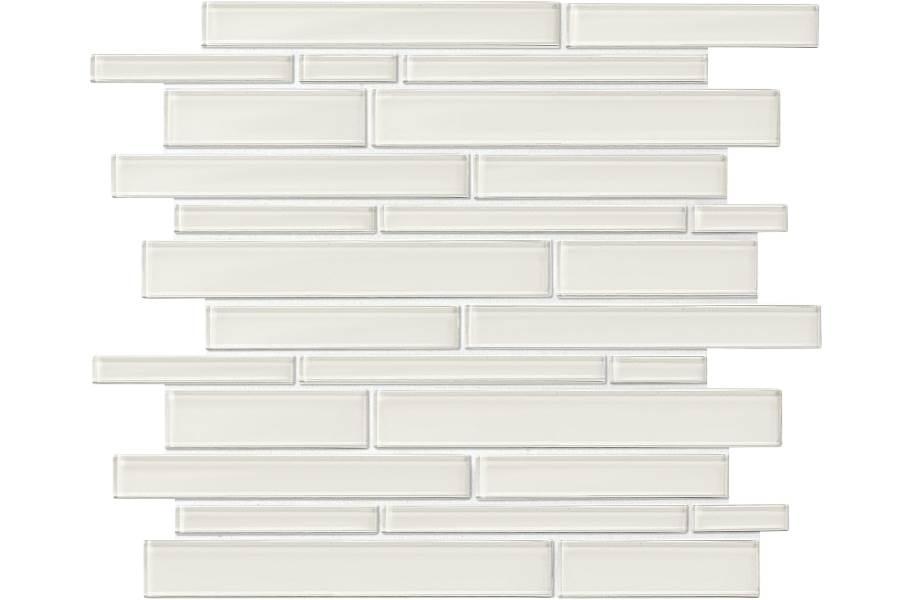 Daltile Amity Glass Mosaic - Grey Random Linear