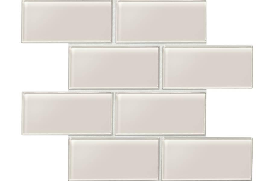 Daltile Amity Glass Mosaic - Taupe 3x6