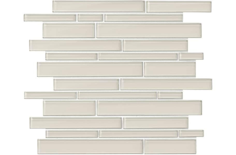 Daltile Amity Glass Mosaic - Taupe Random Linear