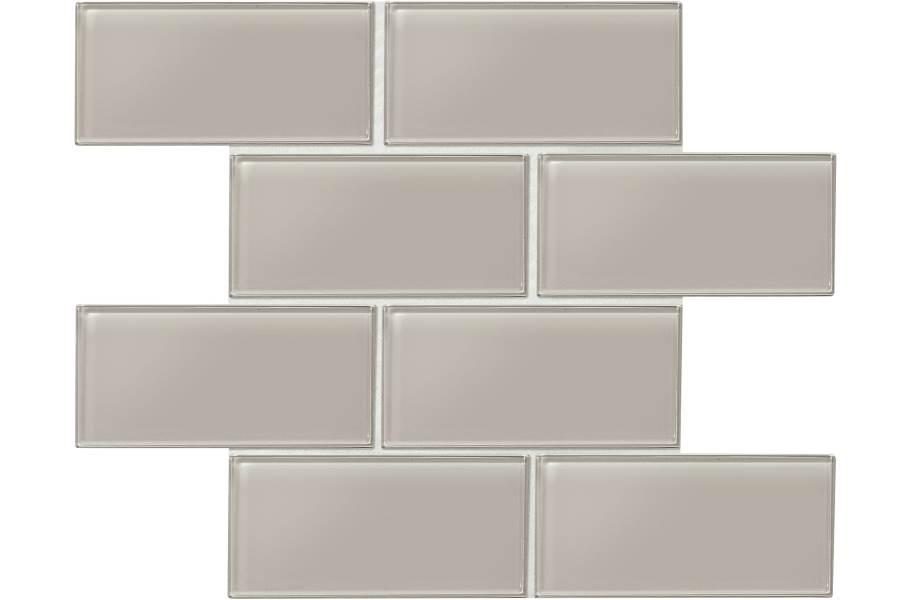 Daltile Amity Glass Mosaic - Grey 3x6