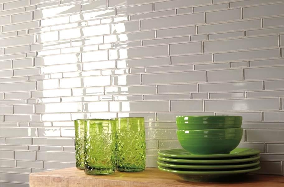 Daltile Amity Glass Mosaic - White 3x6