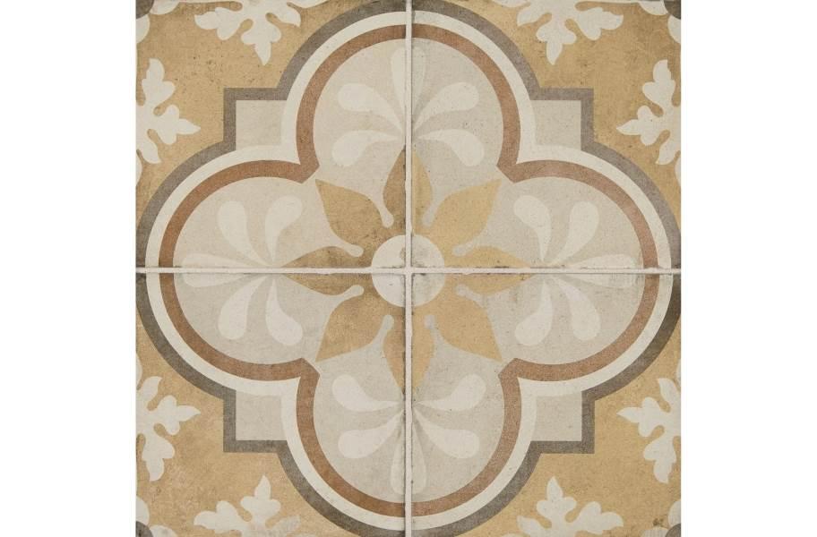 Daltile Quartetto - Warm Grande Fiore (4 tiles)