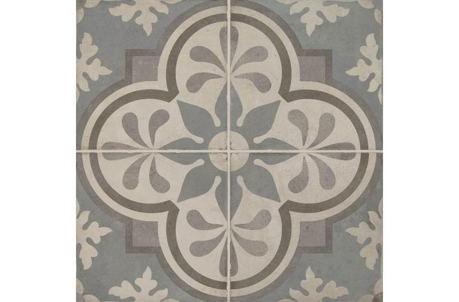 Daltile Quartetto - Cool Grande Fiore (4 tiles)