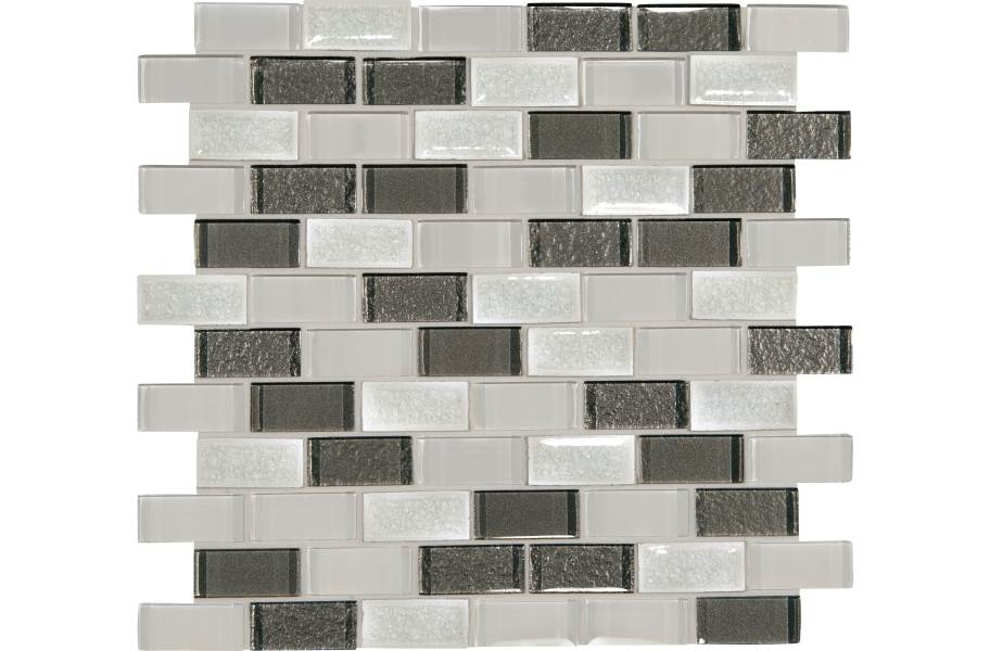 Daltile Crystal Shores Glass Mosaic - Brick Joint Diamond Delta