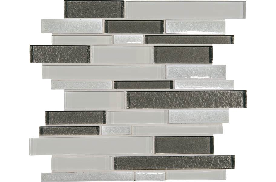 Daltile Crystal Shores Glass Mosaic - Random Linear Delta Diamond