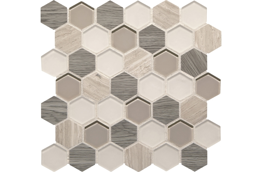 Daltile Idyllic Blends - Serene Storm Hexagon